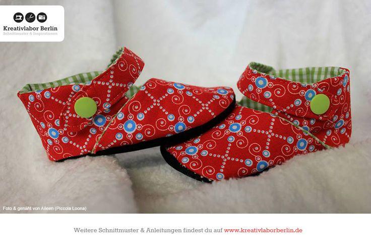 Kinderschuhe mit Riemchen  Zum Schnittmuster: http://www.kreativlaborberlin.de/naehanleitungen-schnittmuster/kinderschuhe-mit-riemchen-groesse-20-bis-30/