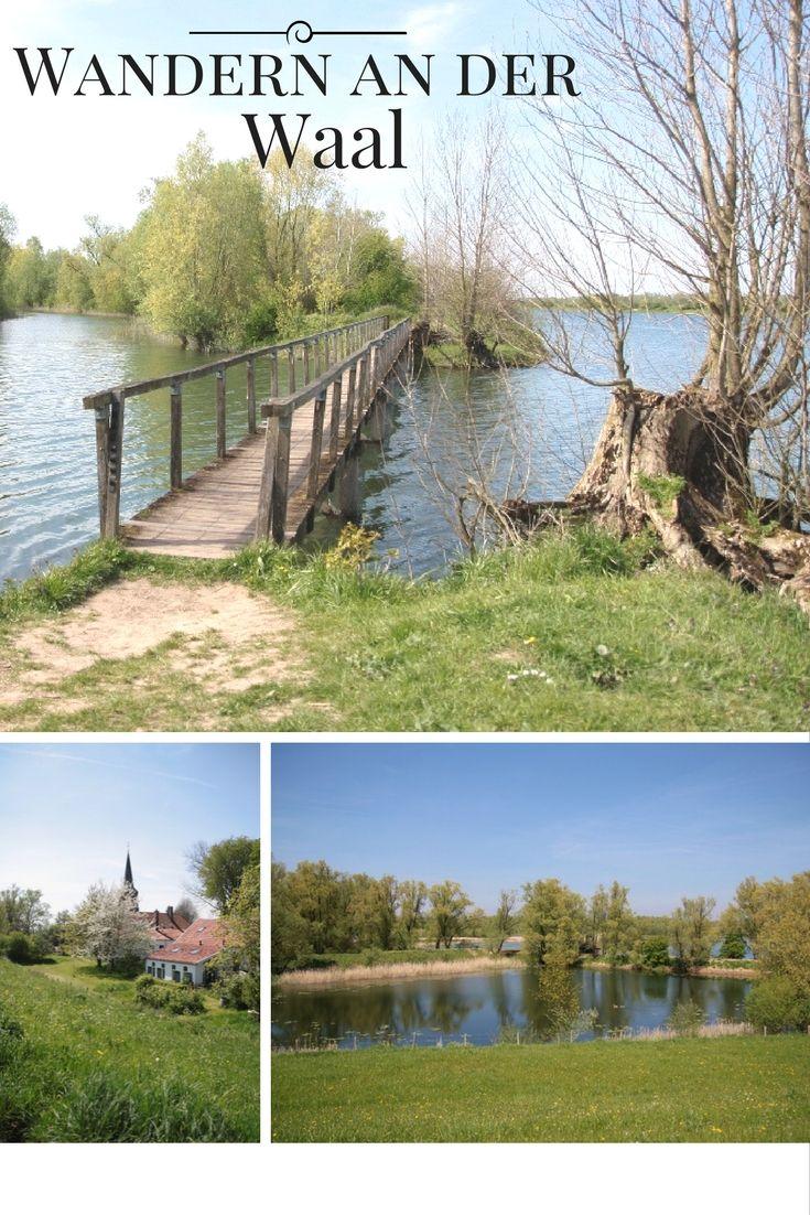 Wandern in Holland am Fluss entlang