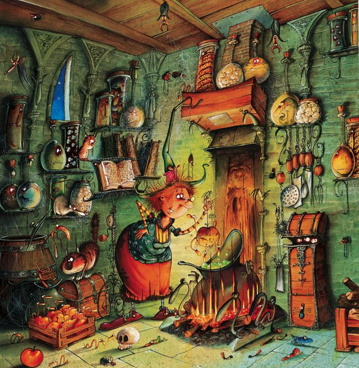 Thema heksen: afbeelding Francois Ruyer