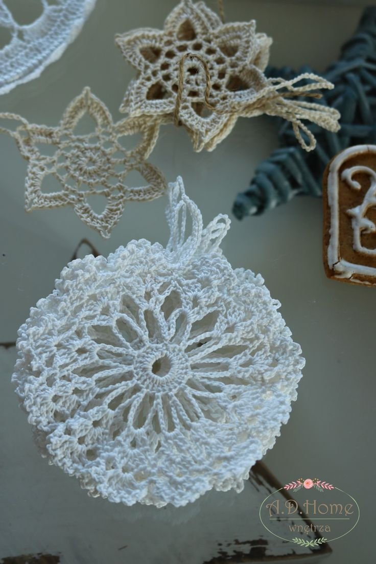świąteczne dekoracje, gwiazdki, gwiazda, śnieżynka, ozdoby choinkowe, ozdoby szydełkowe, crochet, christmas decorations, decorations, pracownia A.D.Home