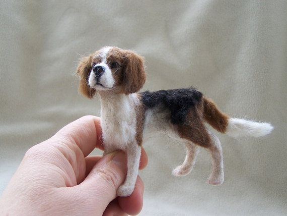 OOAK Dollhouse Miniature Beagle Dog  Nipper  by Malga by malga1605
