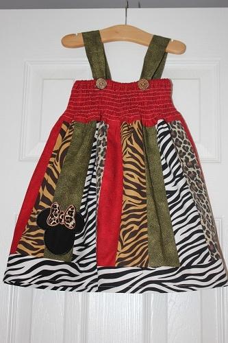Animal Kingdom stripwork dress