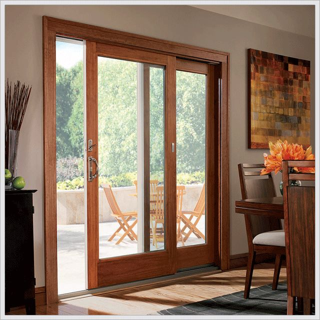 25 best ideas about sliding glass doors on pinterest for Exterior door with sliding window