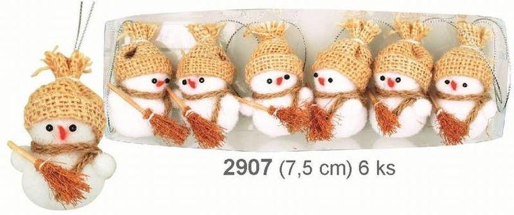 dekorace plyš.sněhulák 1ks přírod.2907
