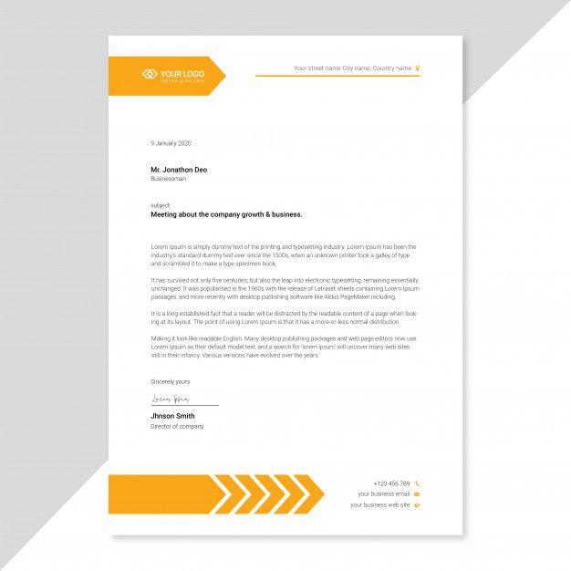 Modelo De Papel Timbrado Corporativo Letterhead Template Company Letterhead Template Business Card Mock Up