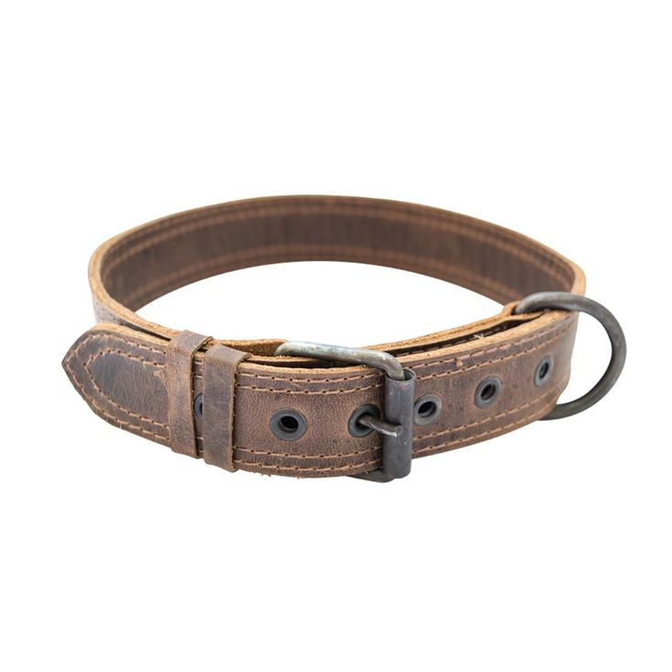 A collar made for the leader of the pack. Designed from full grain bourbon brown-tanned leather. Hand cut and sewn by local artisans in Pastores, Guatemala. SPECIFICATIONS Length: 25 inches Height: 0.