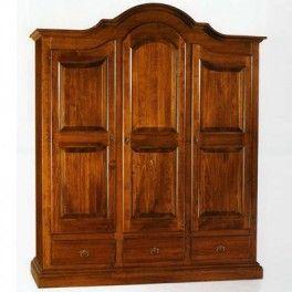 #Walnutwardrobe and Tanganika 3 door wardrobe cm 185x62, h 220 #classicwardrobe #woodenwardrobe