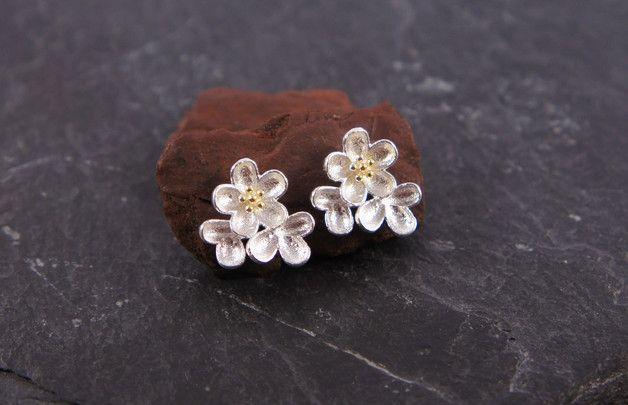 Silber Ohrstecker - ♥ Ohrstecker 925 Sterling Blumen - ein Designerstück von zuckerputzig bei DaWanda