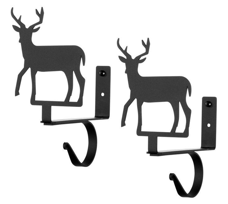 Wrought Iron Deer Curtain Curtain Rod & Shelf Brackets