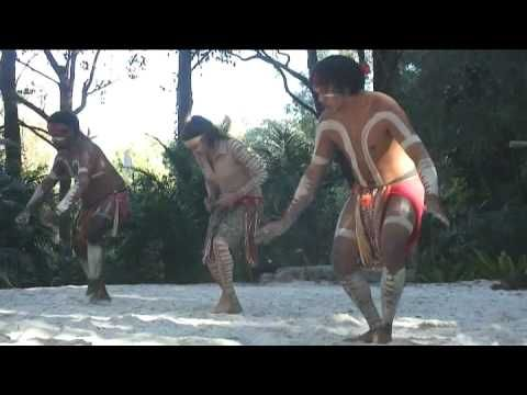 Aboriginal Crane Dance - birdlike movements - animal noises, chanting - body paint - chest and arm markings for emphasis, like wings
