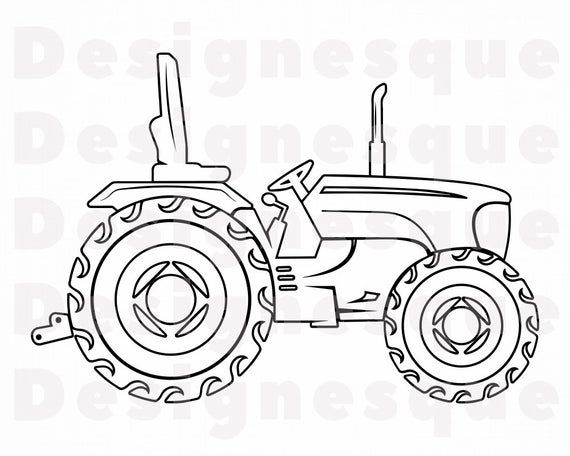 Tractor Outline 9 Svg Tractor Svg Farm Tractor Svg Tractor Etsy In 2021 Tractor Clipart Free Printable Coloring Sheets Tractors
