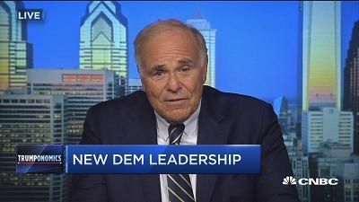 "The outgoing vice president is the ""right guy, right now"" to rebuild the Democratic Party, ex-Pennsylvania Gov. Ed Rendell tells CNBC."
