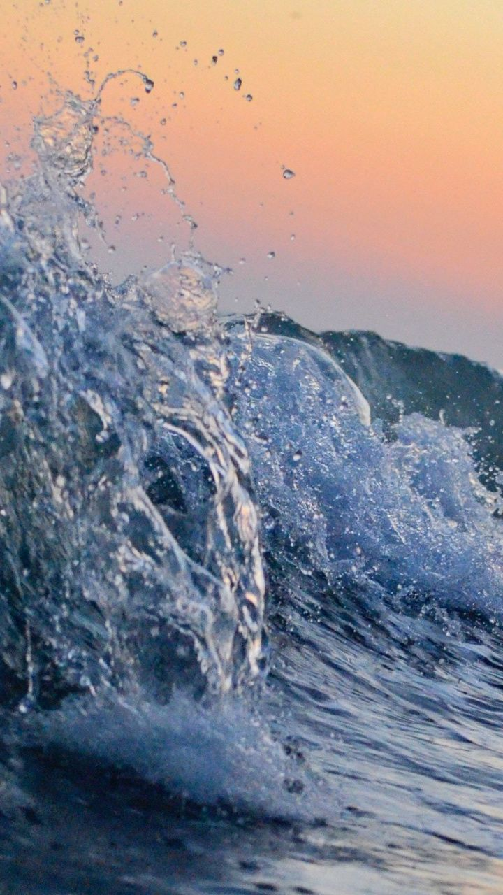 Water Splashes Sea Waves Tide 720x1280 Wallpaper Aesthetic