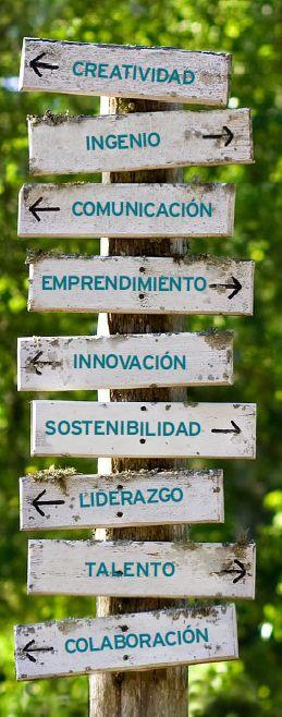 Creatividad, Ingenio, Comunicacion, Emprendimiento, Sostenibilidad, Liderazgo, Innovacion, Talento, Colaboracion de @Thinkidsproject