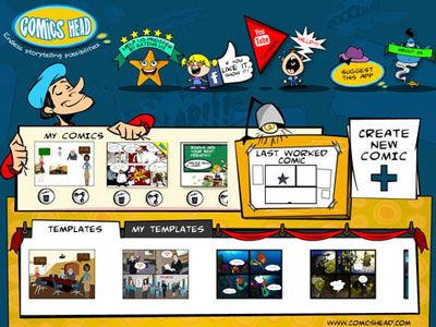 Comics Head – Storytelling tool for kids, parents and teachers to create their own stories, comics and presentations!