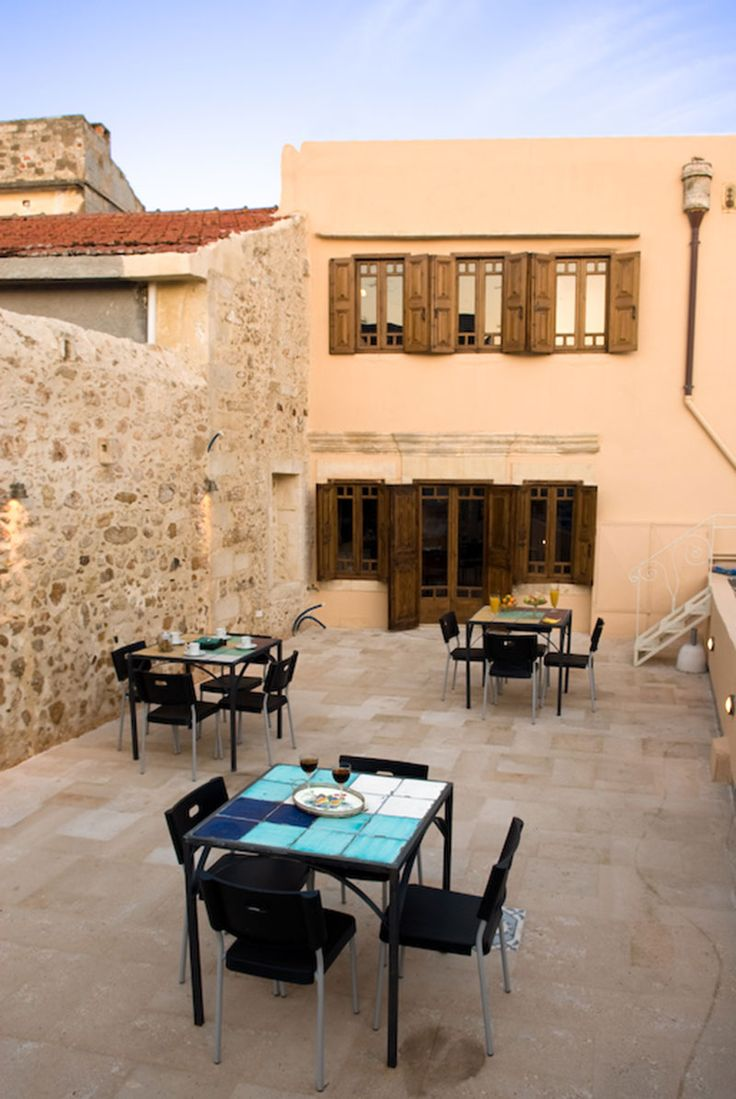 www.anassa-crete.gr Anassa Historical House #villa #historical_house #crete #rethymno #greece #vacation_rental #private #luxurious_accommodation #holidays #summer_in_Crete #veranda #outdoors
