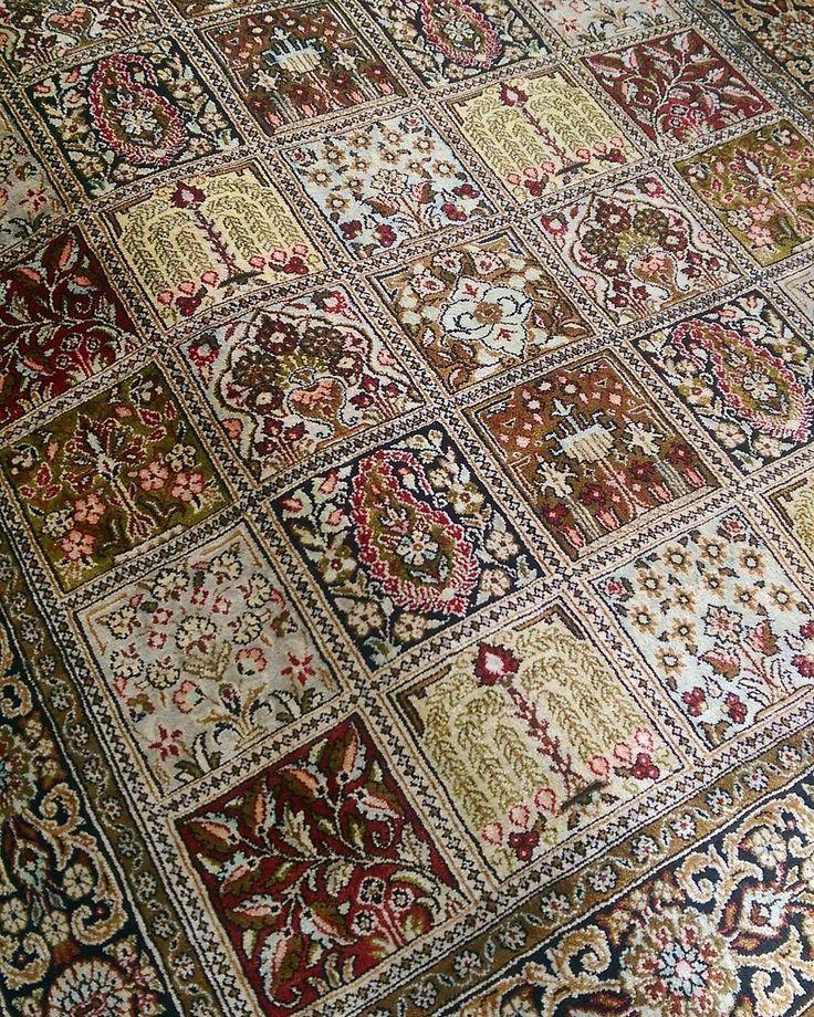 Pure Silk Garden Panel Design Qum Silk Qum Vintage Traditional Design Per In 2020