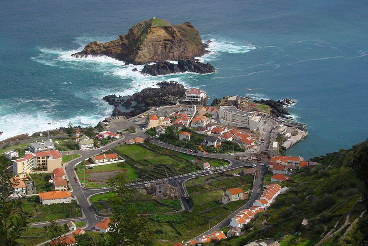 Porto Moniz Harbour overview, Madeira Island - Portugal