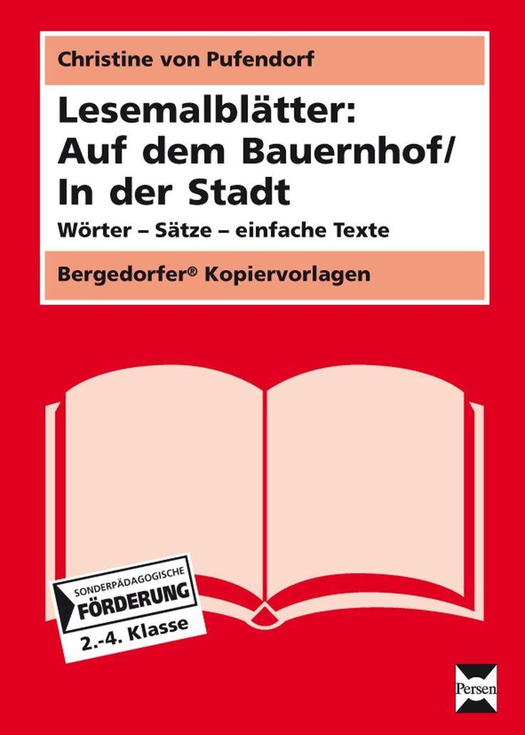 Lesemalblätter: Auf dem Bauernhof / In der Stadt - Lesen und malen, einfaches lesen