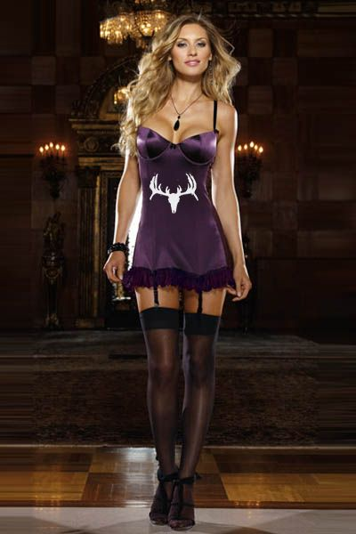 Southern Sisters Designs - Deer Skull Diva Purple Baby Doll Lingerie Outfit - 2 Piece, $26.95 (http://www.southernsistersdesigns.com/deer-skull-diva-purple-baby-doll-lingerie-outfit-2-piece/)