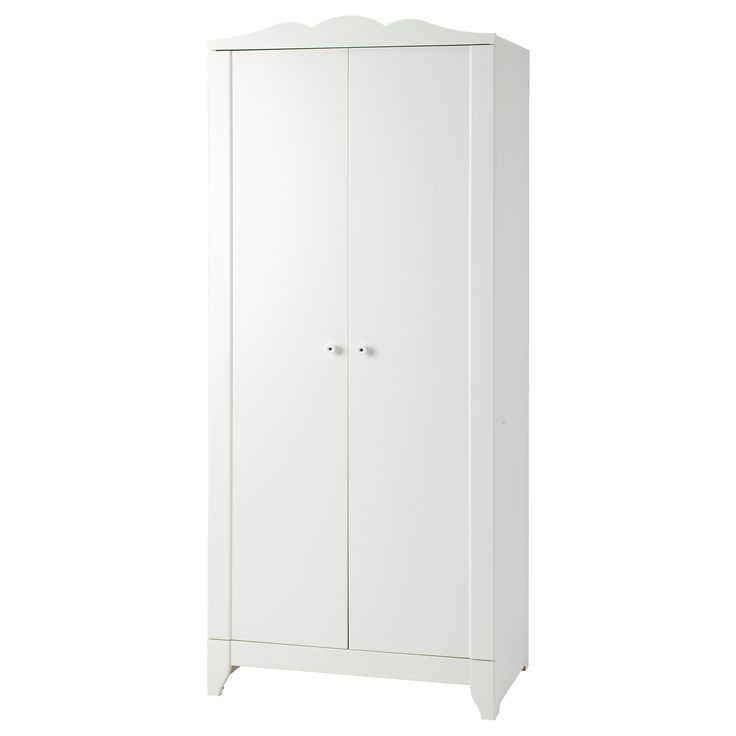 "$119  HENSVIK Wardrobe - IKEA  2 adjustable shelves, 1 clothes rail.  Can rig with more shelves?  Fiberboard, particleboard, foil, acrylic paint.  29.5""W x 18.875""D x 68.5""H"