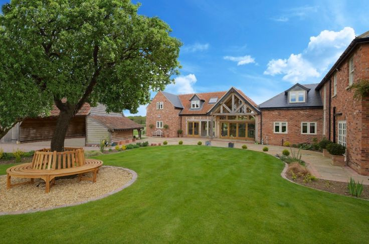 Beautiful oak framed kitchen, dining and garden room extension to large Georgian…