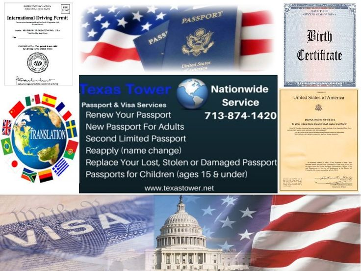 Texas Tower provides: new/child/renewal/lost-stolen passports, visa, U.S. birth certificates, translation of documents, notary,IDLs and apostilles.