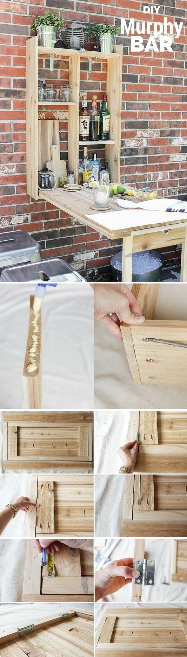 Schauen Sie sich das Tutorial an: #DIY Murphy Bar DIY Home Decor Ideas @ ISD