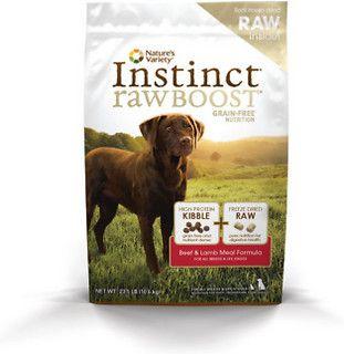 Nature's Variety Instinct Raw Boost Grain-Free Beef & Lamb Meal Formula Dry Dog Food, 23.5-lb bag