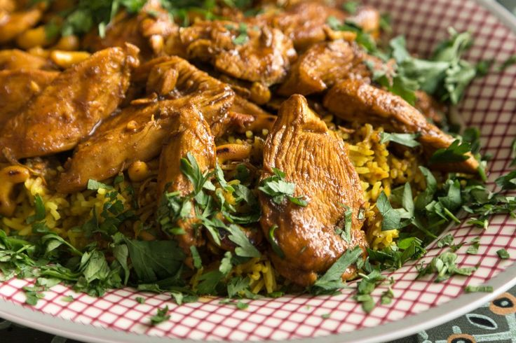 Chicken Curry. This is the perfect recipe to make when you want a very tasty dish and you don't have a lot of time!    For the rice:   	Place a pot with 2 cups of salted water and a table...