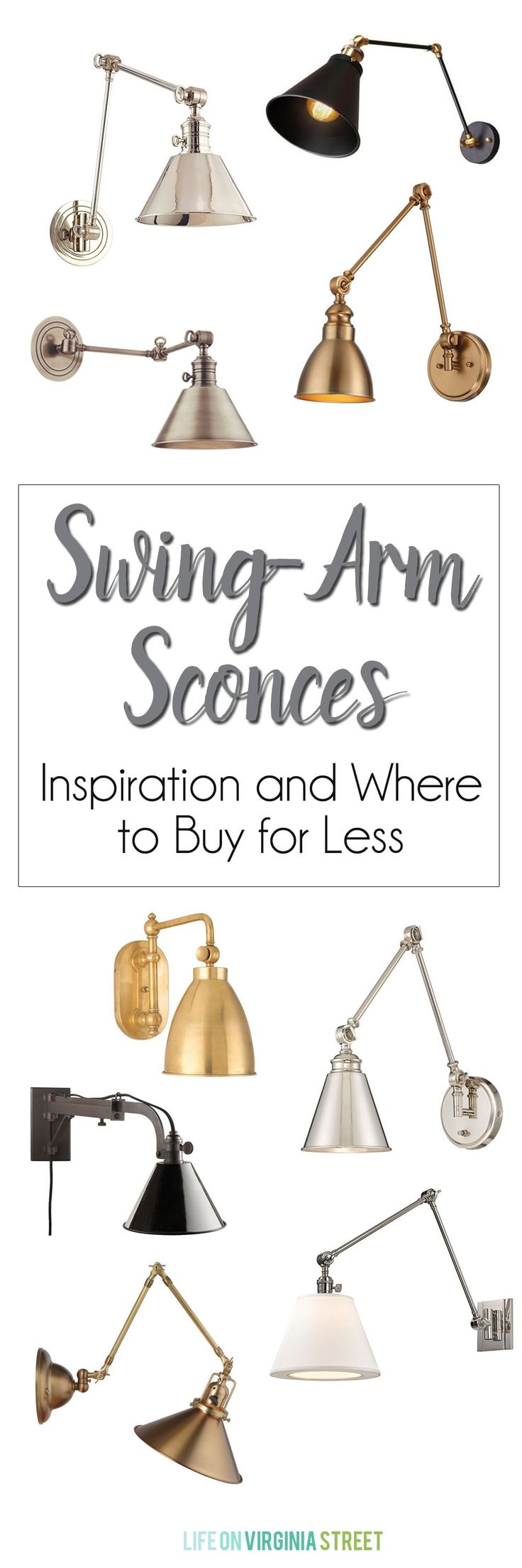 Swing Arm Sconces Sources & Inspiration - Life On Virginia Street