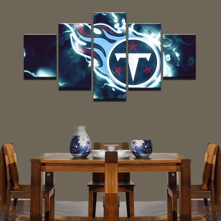 Large Framed Tennessee Titans Football Canvas Print