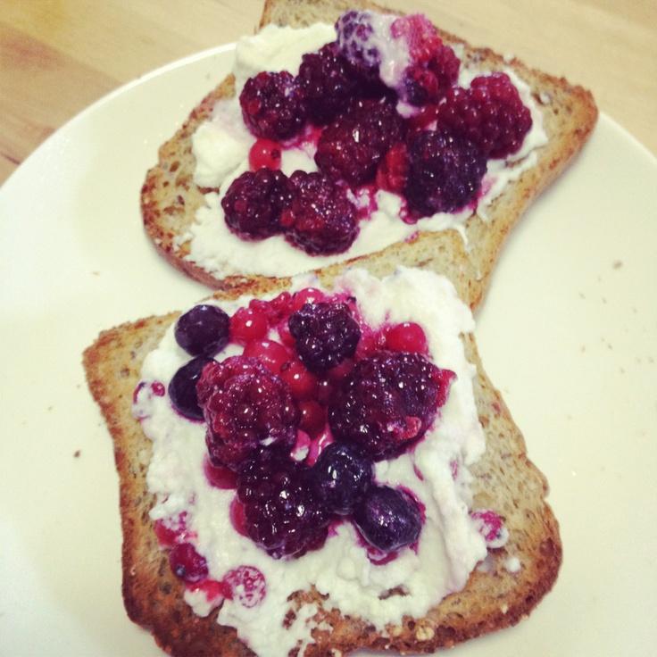 Berry Brushetta - delish and from Michelle Bridges 12WBT