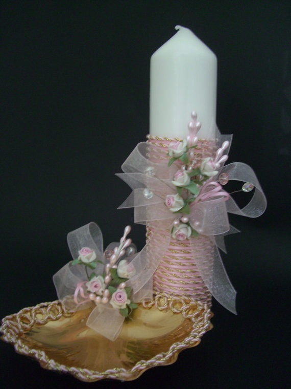 Pink Christening Baptism Gift Set Girl Baptism by CeremonyDeluxe,
