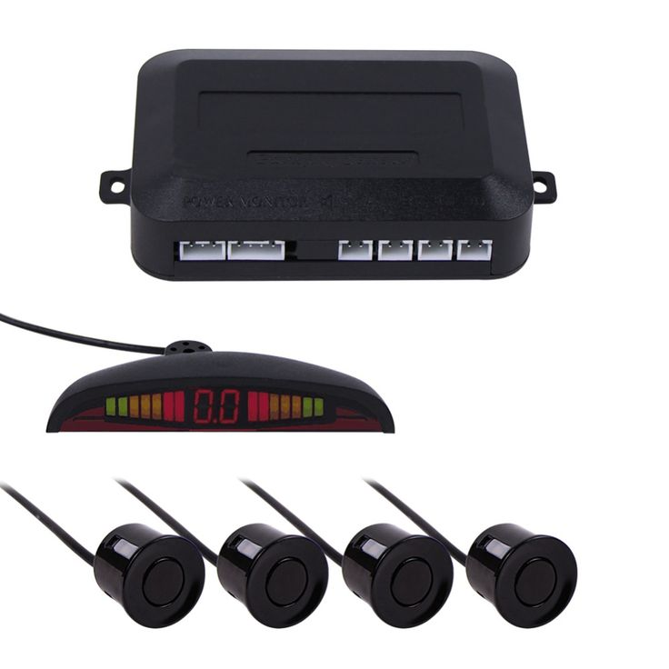 7 colors Sensor Kit Car Auto LED Display 4 Sensors For All Cars Reverse Assistance Backup Radar Monitor Parking System 1 Set  <3 Click the image to view the details