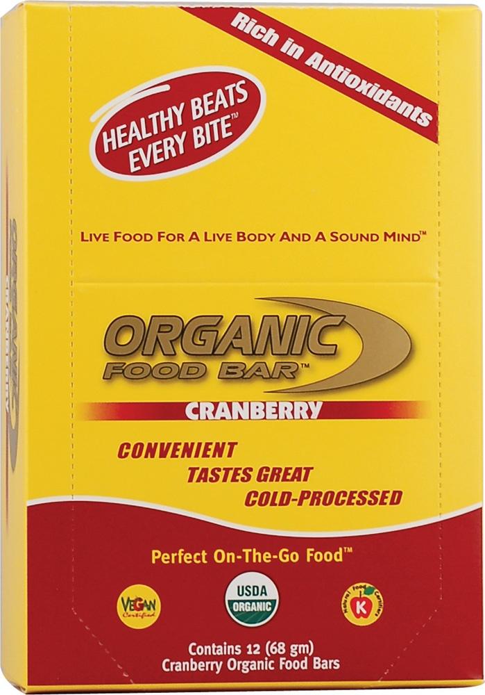 Organic Food Bar Raw and Vegan Cranberry