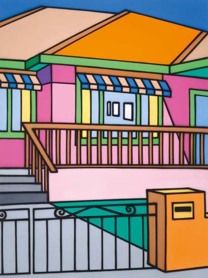Featuring work by Howard Arkley -  available at Anthea Polson Art on the Gold Coast Australia, specialising in contemporary Australian art and sculpture
