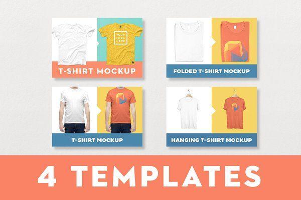 Download T Shirt Mockup Bundle 4 Templates Shirt Mockup Tshirt Mockup Business Card Logo