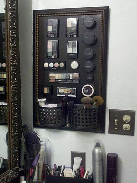 Tablero magnético para maquillaje