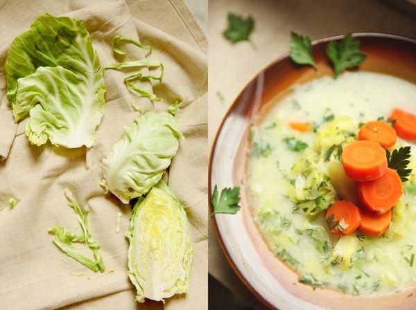 zdjęcie kulinarne zupy z młodej kapusty