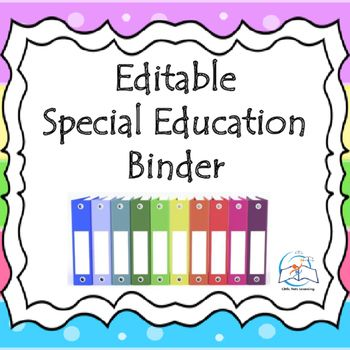 This Special Education Binder has EVERYTHING that you could ever want or need at…