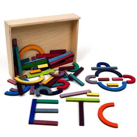 wooden alphabet pattern game