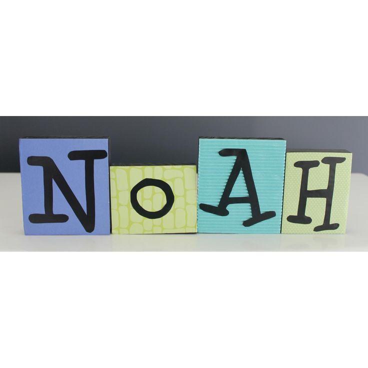 $5.00 Nursery Name Blocks by Littleladybugletters on Handmade Australia