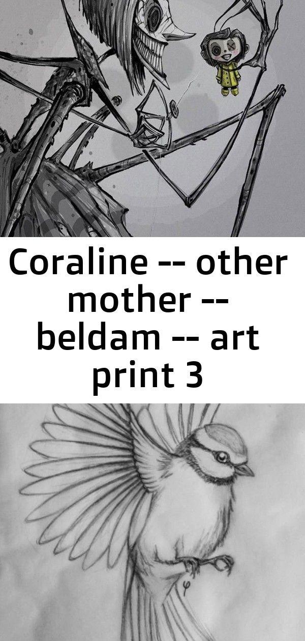 Coraline Other Mother Beldam Art Print 3 Art Prints Art Art Sketches