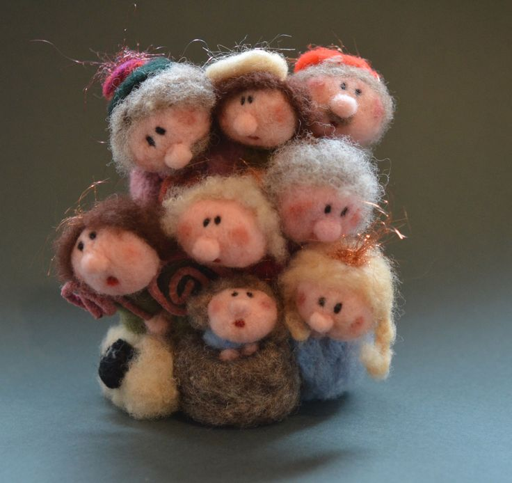 Needle felted Nativity to hang on your wall by TheFeltDrawer on Etsy