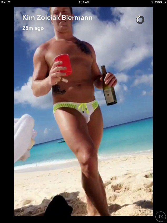 Her hottie: Kim Zolciak shared this image of her husband Kroy Biermann on Thursday
