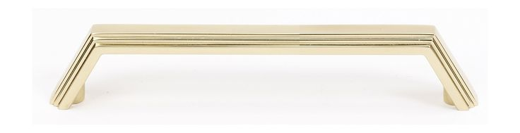 Alno A427-4 Nicole 4 Inch Center to Center Handle Cabinet Pull Polished Brass Cabinet Hardware Pulls Handle