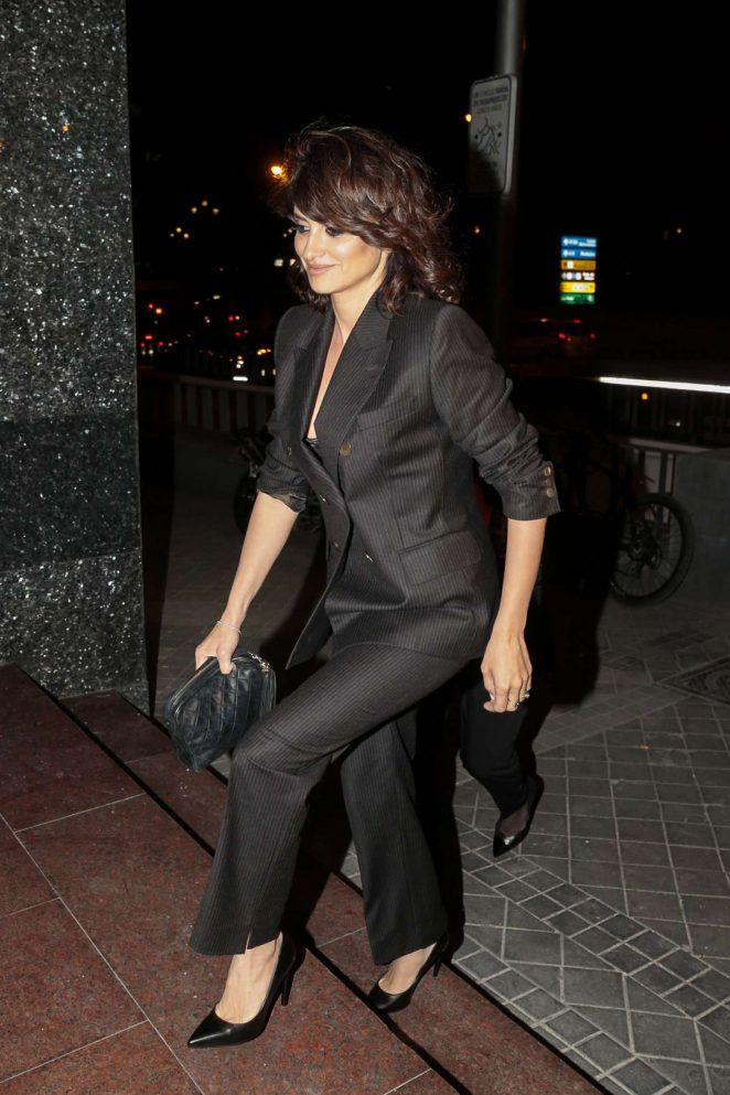 Penelope Cruz at Monica Cruz's 40th birthday in Madrid