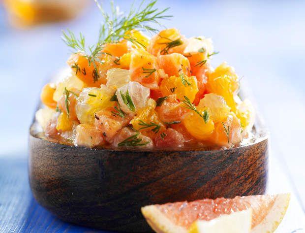 Tartare de saumon aux agrumesVoir la recette du Tartare de saumon aux agrumes