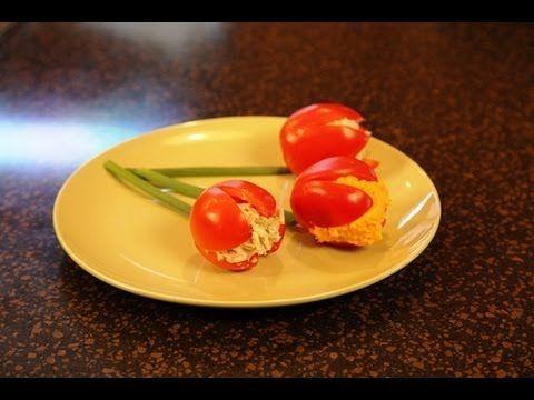 Tulipanes de tomate - #FoodArt - Javies.com